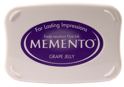 Tsukineko Memento Ink Pad - GRAPE JELLY (large, 8cm x 5cm)