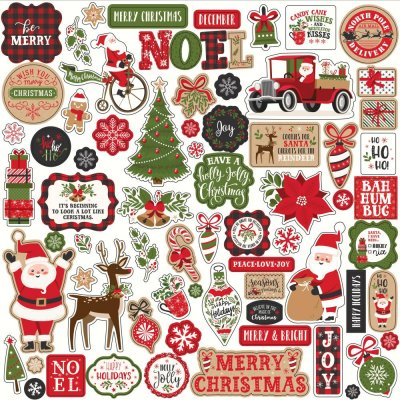 "Echo Park 12""x12"" Cardstock Stickers - My Favorite Christmas Elements"