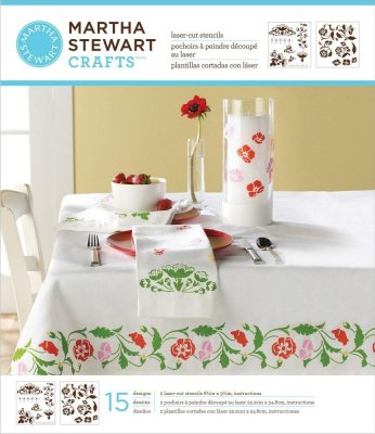 Martha Stewart Crafts - Flower Vines Medium Stencils (2 pack)