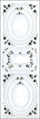 Martha Stewart Crafts - Elegant Gemstone Frame Adhesive Decorations