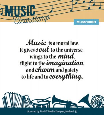 Music Series Clear Stamp - Music