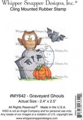 Whipper Snapper Cling Stamp - Graveyard Ghouls