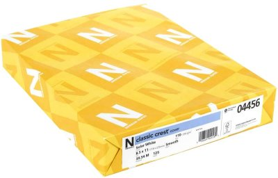 Neenah Classic Crest Card Pack - 297gsm (heavyweight 110lb) Solar White (125 sheets)