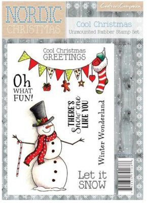 Crafters Companion Nordic Christmas A6 Unmounted Rubber Stamp - Cool Christmas
