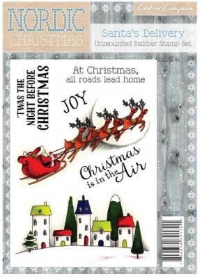Crafters Companion Nordic Christmas A6 Unmounted Rubber Stamp - Santas Delivery