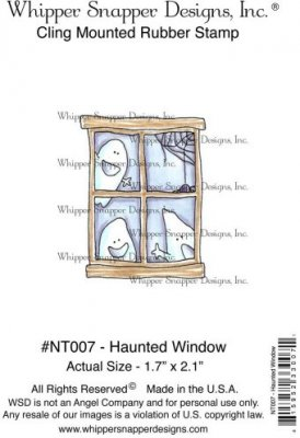 Whipper Snapper Cling Stamp - Haunted Window