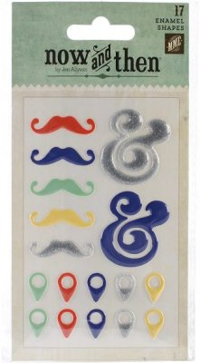 My Minds Eye Now & Then Izzy Adhesive Enamel Shapes - Smile (17 pack)