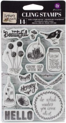Prima Cling Rubber Stamp Set - Forever Green