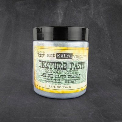 Prima Art Extravagance Texture Paste - Antique Silver Crackle