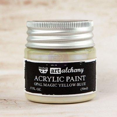 Prima Finnabair Art Alchemy Acrylic Paint - Opal Magic Yellow/Blue (50 ml)