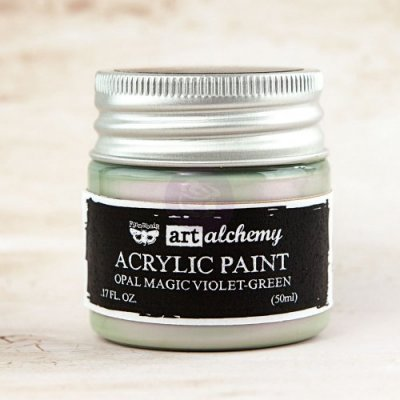 Prima Finnabair Art Alchemy Acrylic Paint - Opal Magic Violet/Green (50 ml)
