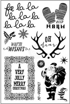 Prima Cling Stamp Set - Fa La La