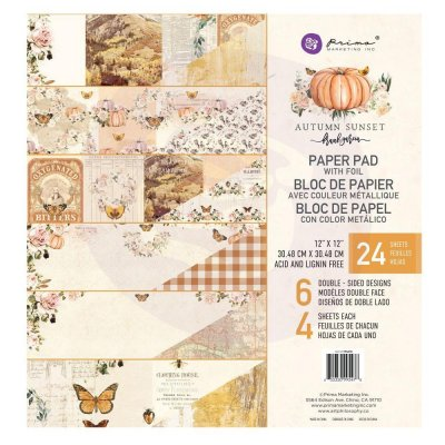 "Prima Marketing 12""x12"" Paper Pad - Autumn Sunset (24 sheets)"