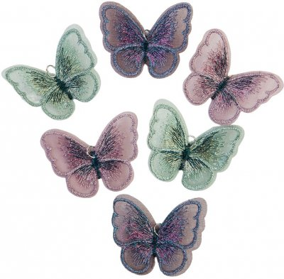 Prima Butterfly Embellishments - My Sweet By Frank Garcia (6 pack)