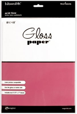 "Inkssentials 8.5""X11"" Gloss Paper - White (10 sheets)"