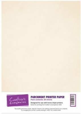 Crafters Companion Printable A4 Parchment Paper (20 sheets)