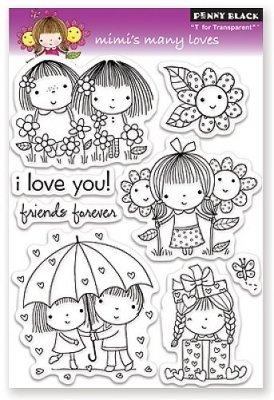 Penny Black Clear Stamp Set - Mimis Many Loves