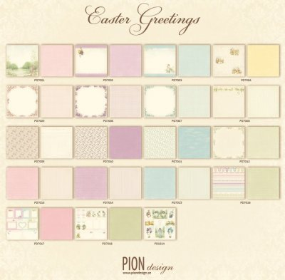 Pion Design 12x12 Paper Collection - Easter Greetings (all 19 sheets)