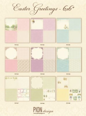 Pion Design 6x6 Paper Collection - Easter Greetings (all 9 sheets)