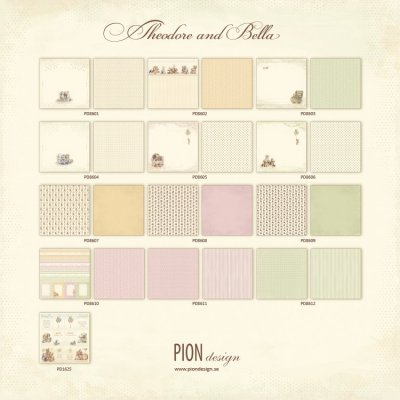 Pion Design  12x12 Paper Collection - Theodore and Bella (all 13 sheets)