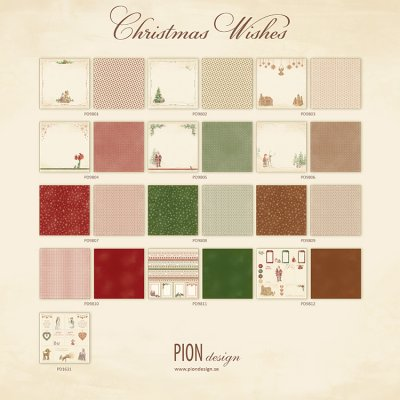 Pion Design 12x12 Paper Collection - Christmas Wishes (all 13 sheets)