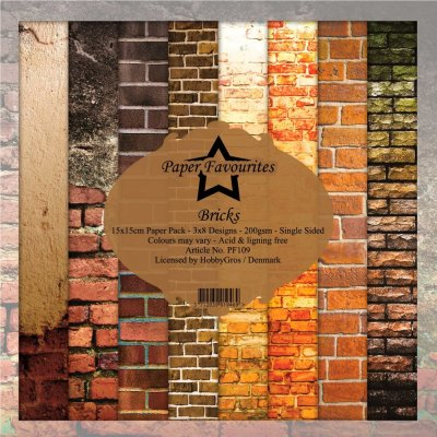 "Paper Favourites 6""x6"" Paper Pack - Bricks (24 sheets)"