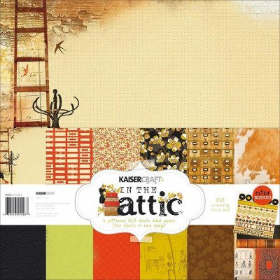 "Kaisercraft - 12"" x 12"" In The Attic Paper Pad (13 sheets)"