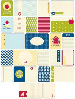 Project Life Themed Cards - School (60 pack)