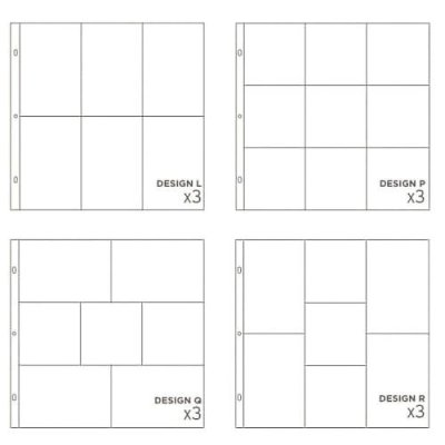 Project Life Photo Pocket Pages - Small Variety Pack 4 (12 pack)
