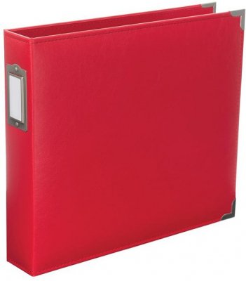 "Project Life 12""x12"" Classic Faux Leather D-Ring Album - Cherry"