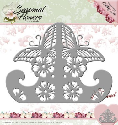 Precious Marieke Dies - Seasonal Flowers Card Stand