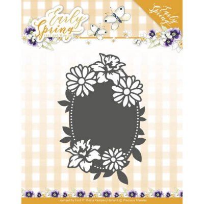 Precious Marieke Dies - Early Spring Flowers Oval label