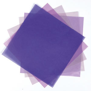 ASSORTED 8X8 VELLUM PACK 10 SHEETS & 5 COLS PURPLES