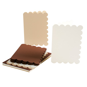 C6 CARD/ENVELOPE 12PK SCALLOPED EARTH TONES