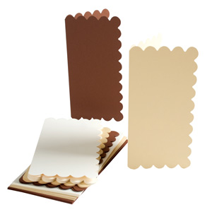 TALL CARD/ENVELOPE 12PK SCALLOPED - EARTH