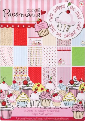 A5 PAPER PACK DOUBLE SIDED - LITTLE CAKE SHOPPE (36 Sheets)