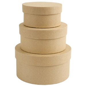 PAPERMANIA BARE BASICS NESTING BOXES - CIRCLE (S/M/L)
