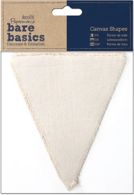 Docrafts Canvas Shape - Bare Basics - Flags (6 pack)