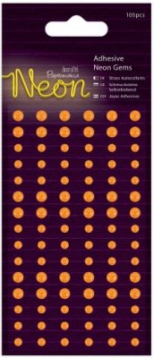 Docrafts Adhesive Gems - Neon Orange (105 pack)