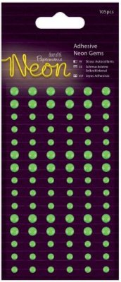 Docrafts Adhesive Gems - Neon Green (105 pack)