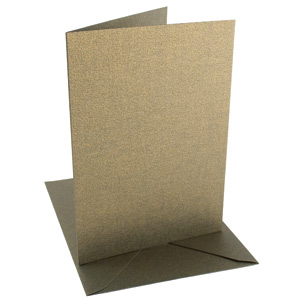 C6 CARD/ENVELOPE 5 PACK BRONZE PEARLESCENT