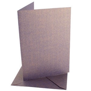 A6 CARD/ENVELOPE 5 PACK TWO-TONE PEARLESCENT