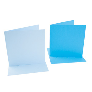 SQUARE CARD/ENVELOPE 10 PACK BABY BLUE/SKY BLUE