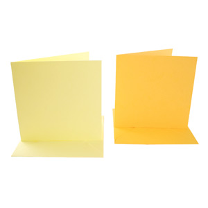 SQUARE CARD/ENVELOPE 10 PACK YELLOW/GOLD
