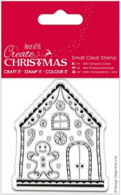 Docrafts Small Clear Stamps - Gingerbread House