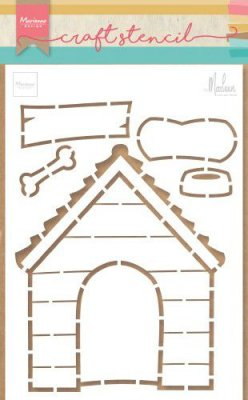 Marianne Design Stencils - Doghouse by Marleen
