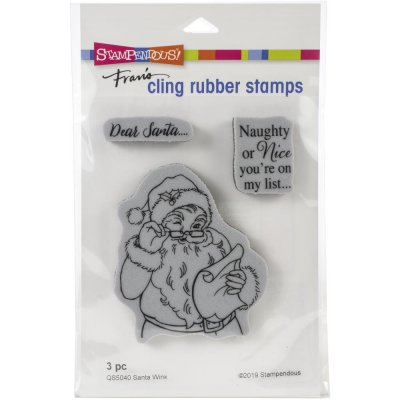 Stampendous Cling Stamps - Santa Wink