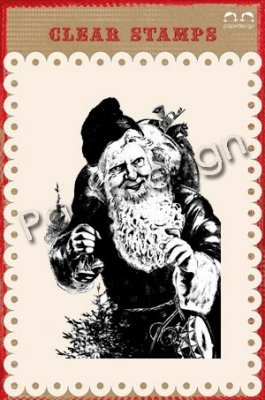 Papirdesign Clear Stamps - Jultomte 2