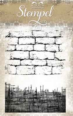 Papirdesign Clear Stamps - Cloth and Brickwork