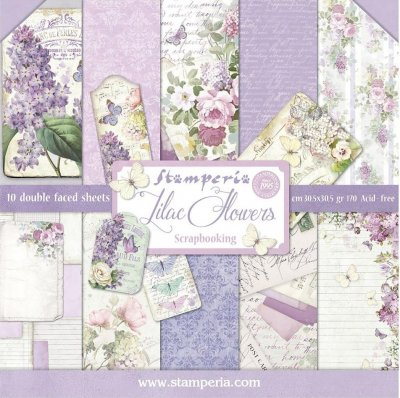 "Stamperia 12""x12"" Double-Sided Paper Pad - Lilac (10 pack)"
